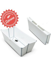 Детская складная ванночка Flexi Bath (Белый/Серый)