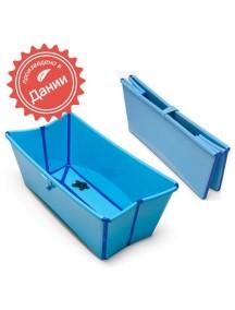 Детская складная ванночка Flexi Bath (Голубая)