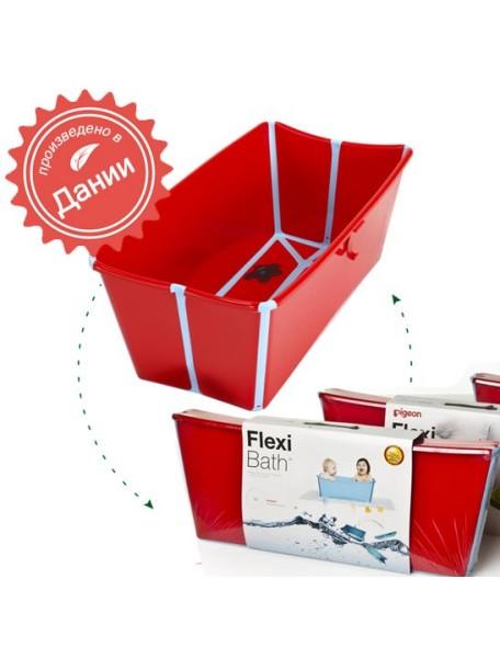 Детская складная ванночка Flexi Bath (Красный/Голубой)
