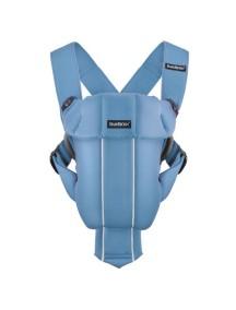 Рюкзак-Кенгуру Original BabyBjorn для переноски ребенка облегченный Голубой / Blue Cotton