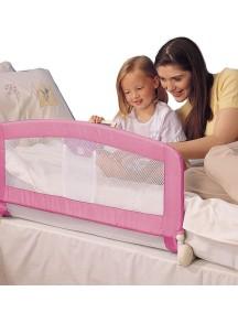 """Барьер защитный для детской кроватки Tomy / """"Folding Bed rail"""" / Розовый"""