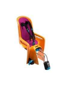Детское велосипедное сидение Thule RideAlong, оранжевый (вкладыш темно серый/фиолетовый)