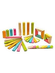 Набор Исследователь. 40 деревянных магнитных кубиков. Tints
