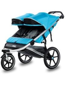 Детская беговая коляска для 2-х детей Thule Urban Glide 2 (Туле Урбан Глайд 2)голубой, Thule Blue 2015