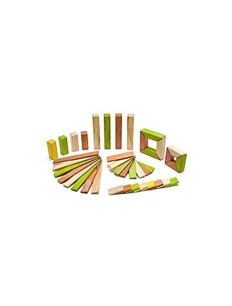 Набор Исследователь. 40 деревянных магнитных кубиков. Jungle