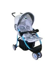 Коляска прогулочная Happy Dino LC200S (R4FY, серый с голубой рамой)