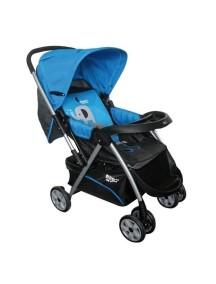 Коляска прогулочная Happy Dino LС288 (H4ZN, темно синяя с голубой вставкой)