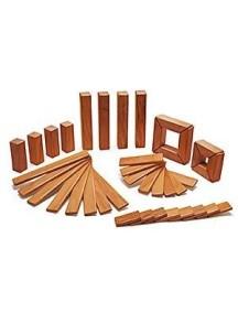 Набор Исследователь. 40 деревянных магнитных кубиков. Mahogany