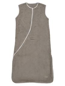 Махровый спальный мешок Jollein 70 см, цвет тауп/белый