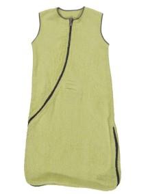 Махровый спальный мешок Jollein 90 см, цвет лайм/серый