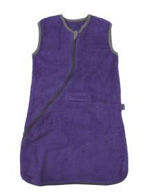 Махровый спальный мешок Jollein 90 см, цвет фиолетовый/серый