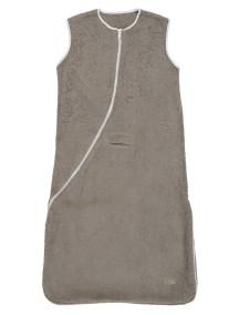 Махровый спальный мешок Jollein 90 см, цвет тауп/белый