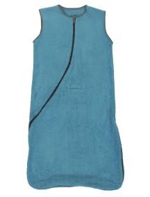 Махровый спальный мешок Jollein 110 см, цвет аква/серый