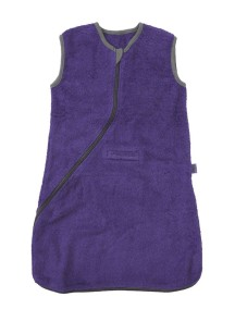 Махровый спальный мешок Jollein 110 см, цвет фиолетовый/серый