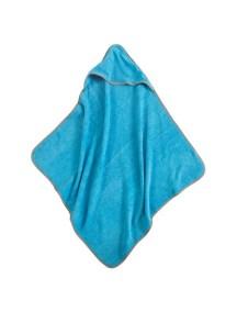 Полотенце с капюшоном Jollein 75х75 см, цвет аква/серый