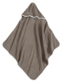 Полотенце с капюшоном Jollein 75х75 см, цвет тауп/белый