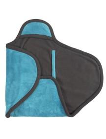 Флисовое одеяло-конверт на липучке Jollein, цвет аква/серый