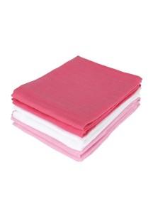 Комплект многоцелевых пеленок (муслин) Jollein 70х70 см, 6 шт, фуксия/розовый/белый