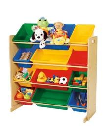Стеллаж для детских игрушек Tottutors. Цвет натуральный