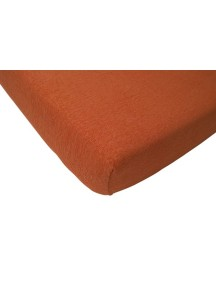 Махровая простыня на резинке Jollein 60х120 см, цвет рыжий