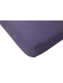Махровая простыня на резинке Jollein 75х150 см, цвет фиолетовый