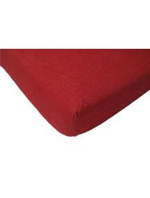 Махровая простыня на резинке Jollein 75х150 см, цвет красный