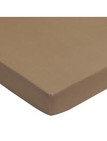 Махровая простыня на резинке Jollein 75х150 см, цвет тауп