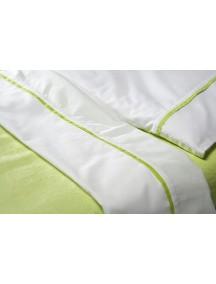 Комплект простыня 100х150 см и наволочка 40х60 см Jollein, цвет белый с кантом цвет лайма