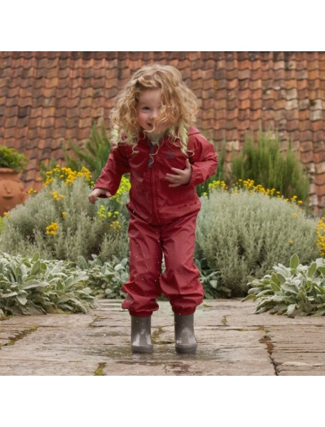Детский дождевик-непромокайка Хиппичик (на лето) красный