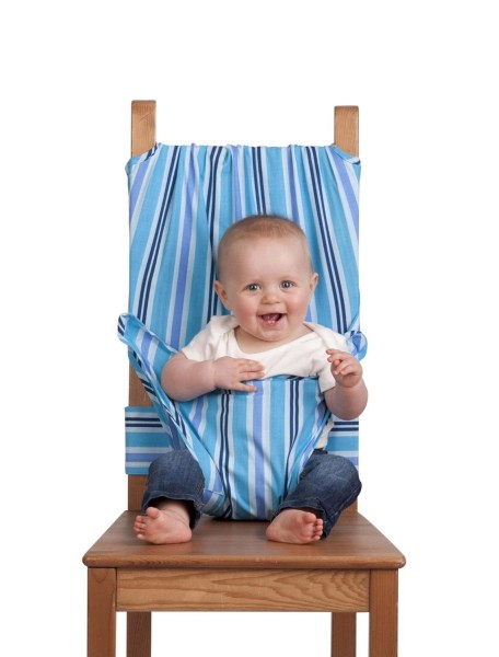 Дорожный стульчик для кормления (Лазурный)