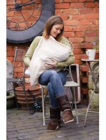 Накидка для грудного вскармливания МамаСкарф (крем и карамель)