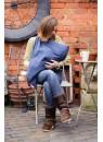 Накидка для грудного вскармливания МамаСкарф (синий)