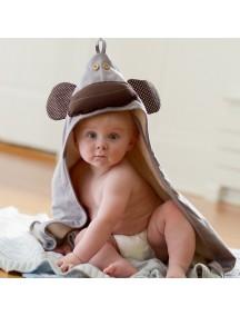 Полотенце с капюшоном детское 3 Sprouts «Серая обезьянка»