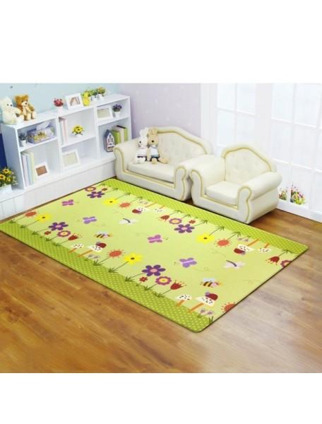 Коврик игровой детский развивающий Двингулер Средний Dwinguler Medium (1900x1300x15мм) Райский сад (Зеленый)