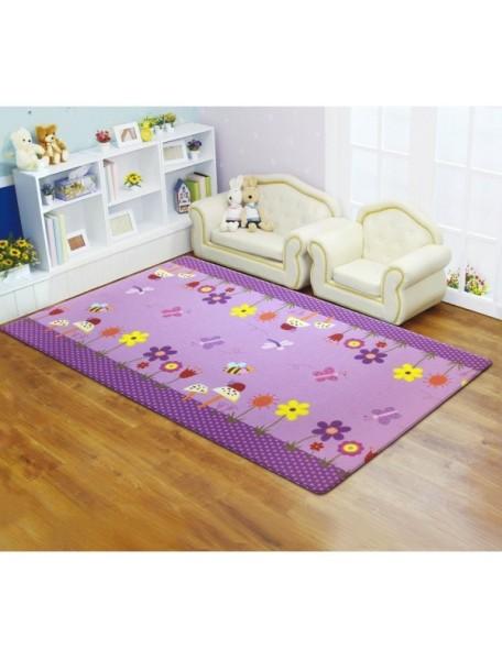 Коврик игровой детский развивающий Двингулер Средний Dwinguler Medium (1900x1300x15мм) Райский сад (Фиолетовый)