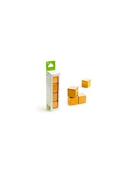 Конструктор Tegu. ДЕРЕВЯННЫЕ КУБИКИ НА МАГНИТАХ TEGU BLOCKS Orange (Оранжевые)