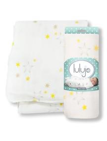 Бамбуковая муслиновая пелёнка Lulujo Звёзды (Stars Bamboo Wrap)