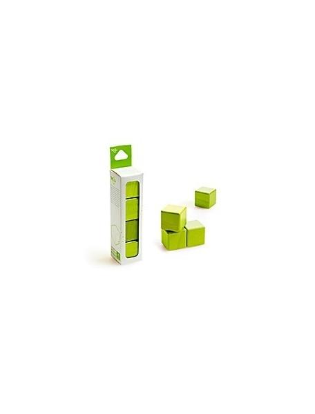 Конструктор Tegu. ДЕРЕВЯННЫЕ КУБИКИ НА МАГНИТАХ TEGU BLOCKS Green (Зеленые)