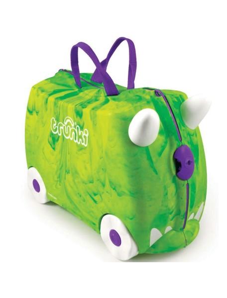 Детский чемодан на колесиках Trunki Trunkisaurus Rex (Транки Транкозавр Рекс  - Зеленый )