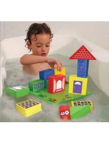 Мягкий конструктор (15 элементов) для игры в ванне Edushape Floating Blocks
