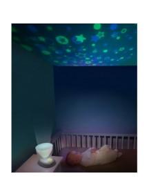 """Музыкальный ночник-проектор Babymoov """"Звездное небо"""", Салатовый"""