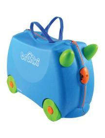 Trunki Terrance - Голубой Детская каталка-чемодан Транки