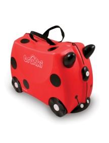 Детский чемодан на колесиках Trunki Harley (Транки  Харли - Божья Коровка)