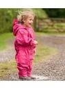 Детский универсальный непромокаемый мембранный комбинезон Хиппичик (весна-лето-осень) розовый без подкладки