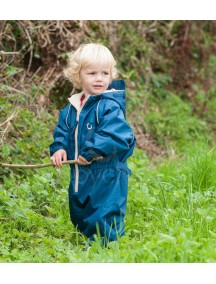 Детский утепленный непромокаемый мембранный комбинезон Хиппичик (весна-лето-осень) васильковый с флисом