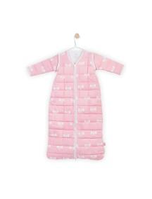 """Универсальный спальный мешок со съемными рукавами """"4-сезона"""", 110 см Jollein, цвет розовые бантики"""