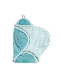 Флисовое одеяло-конверт на липучке Jollein, цвет нефритовый/молочный