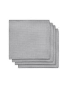 Комплект бамбуковых пеленок  Jollein 70х70 см, цвет серый, 4 шт