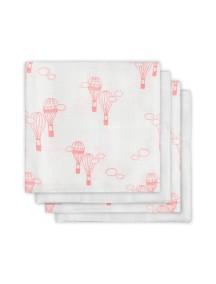 Комплект бамбуковых пеленок  Jollein 70 х70 см, цвет воздушные шары розовые, 4 шт