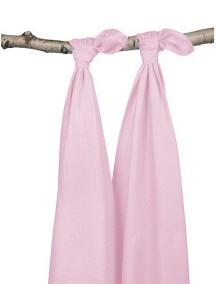 Комплект бамбуковых пеленок Jollein 115х115 см, цвет розовый, 2 шт